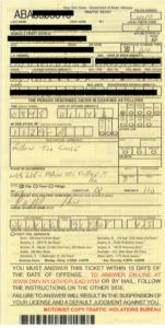 traffic ticket