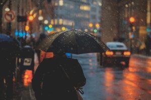 raining city