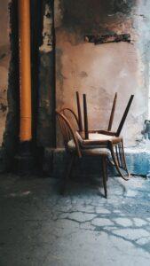 broken chairs