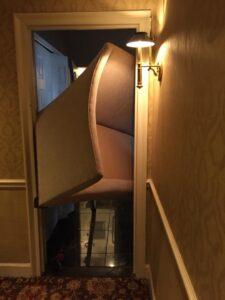 sofa through the door