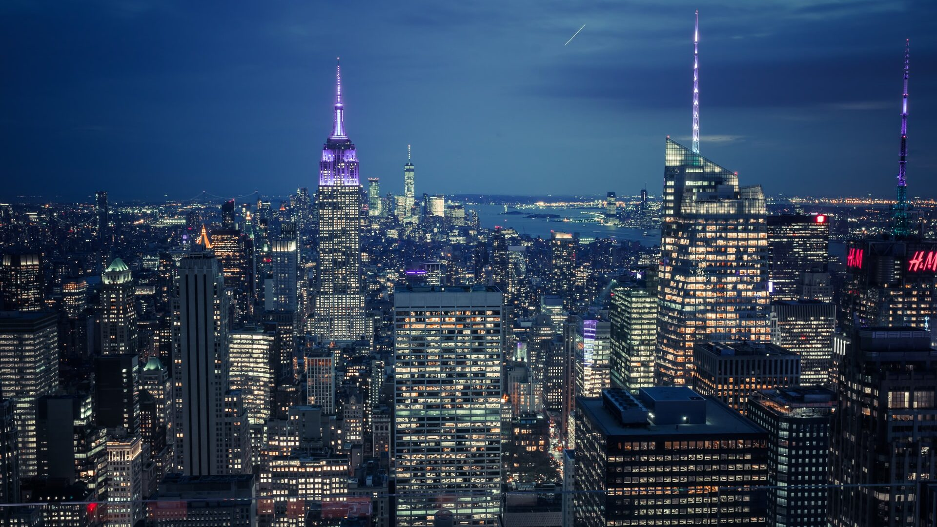 New York during the night