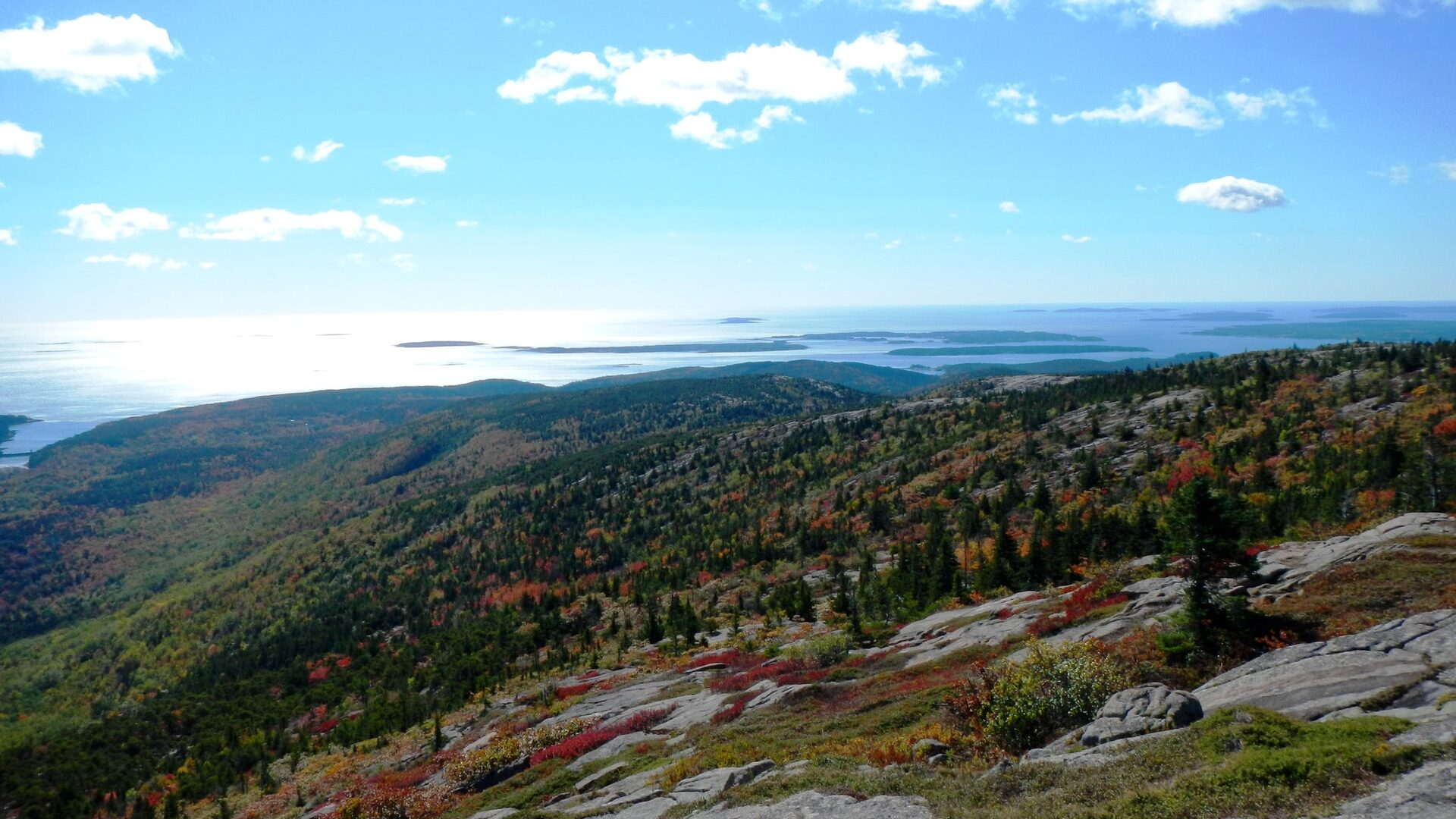 Maine view from top